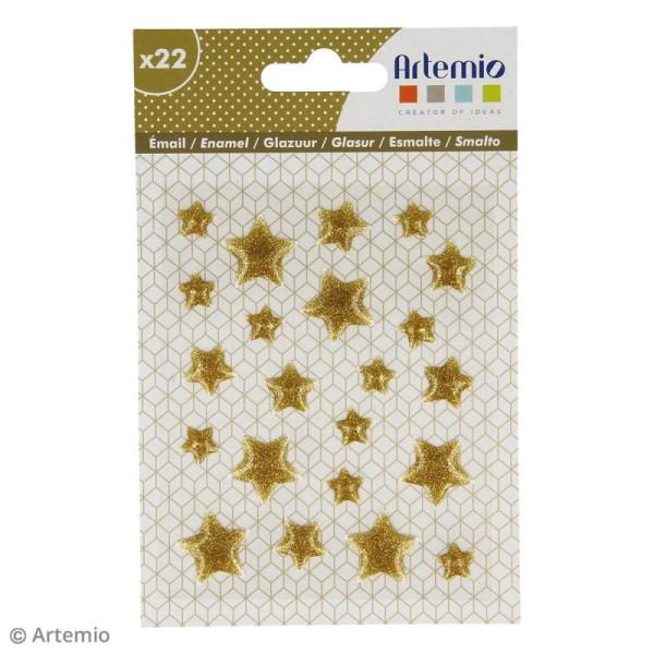 Stickers Etoiles - Doré - 22 pcs - Photo n°2