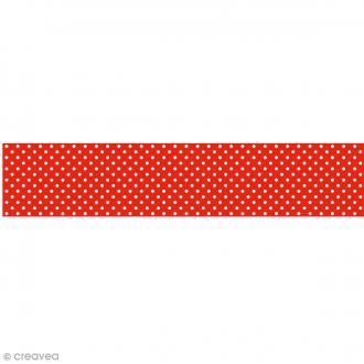 Ruban en papier Lollipop - Rouge à Pois - 5 cm x 6,5 m