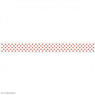 Ruban en papier Lollipop - Rouge à Coeurs - 5 cm x 6,5 m