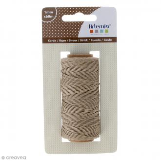 Corde naturelle - 1 mm x 60 m