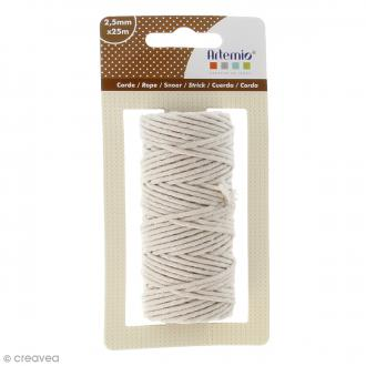 Corde naturelle - Beige - 2,5 mm x 25 m