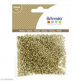 Perles de décoration - Doré - 3 mm - 20 g