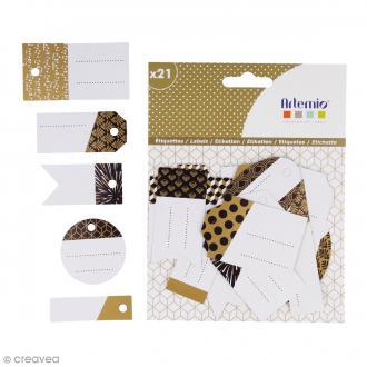 Etiquettes cadeaux - Gold - 5 cm - 21 pcs
