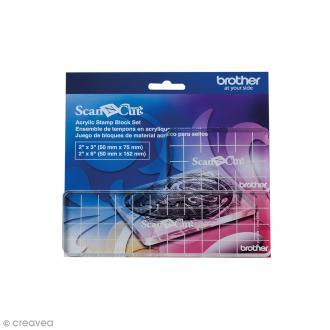 Bloc de positionnement acrylique pour tampons ScanNcut - 2 tailles - 2 pcs