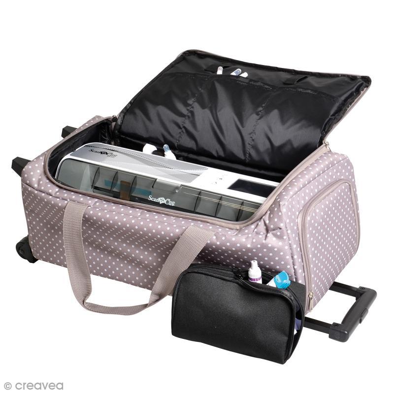 valise de rangement roulettes pour scan n cut 60 x 26 x 25 cm sac scrapbooking creavea. Black Bedroom Furniture Sets. Home Design Ideas