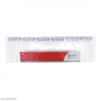 Pot de rangement vide - Plastique - 10 x 5,5 cm - 6 pcs