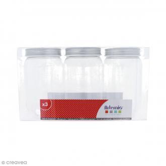 Pot de rangement vide - Plastique - 7,5 cm - 3 pcs