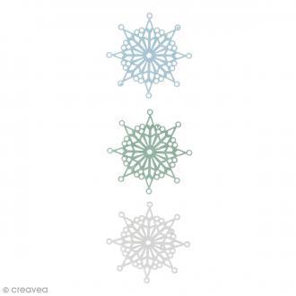 Flocons de neige en Feutrine - 7 cm - 3 pcs