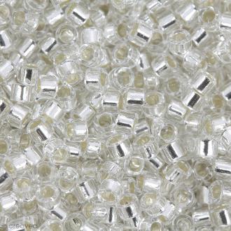 Perles Miyuki Delica 11/0 - DB0041 - Silver Lined Crystal - 5g