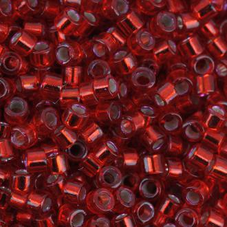 Perles Miyuki Delica 11/0 - DB0602 - Silver Lined Red Dyed - 5g