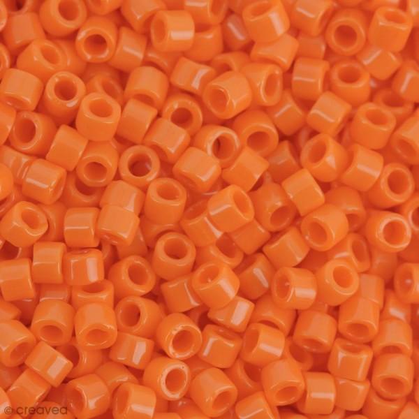 Perles Miyuki Delica 11/0 - DB0722 - Opaque Orange - 5g - Photo n°1