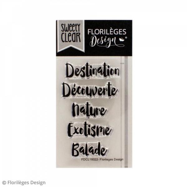 Tampon clear Florilèges Design - Ma destination - 5 tampons - Photo n°1