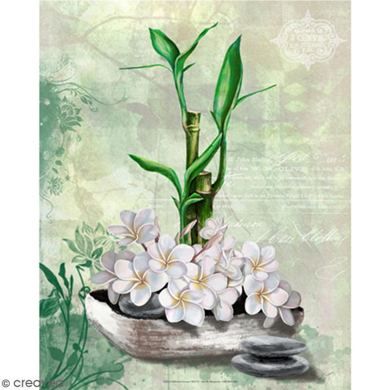Image 3D - Bambou et fleurs de coco - 24 x 30 cm - Photo n°1