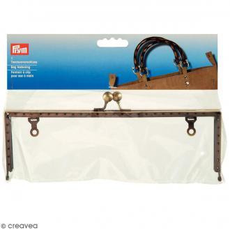 Fermoir sac à main - Modèle Emma - Laiton - 22,5 x 6,5 cm - 1 pce