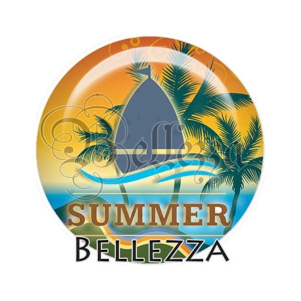 Cabochon, sun, été,soleil, palge, mer , plusieurs tailles disponibes - Photo n°1