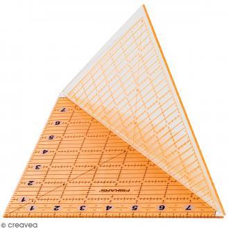 Règle acrylique pliable en diagonale - 20 x 20 cm