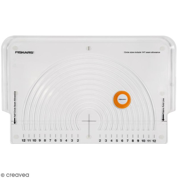 Cutter circulaire avec plaque pour tissus Fiskars - Photo n°1