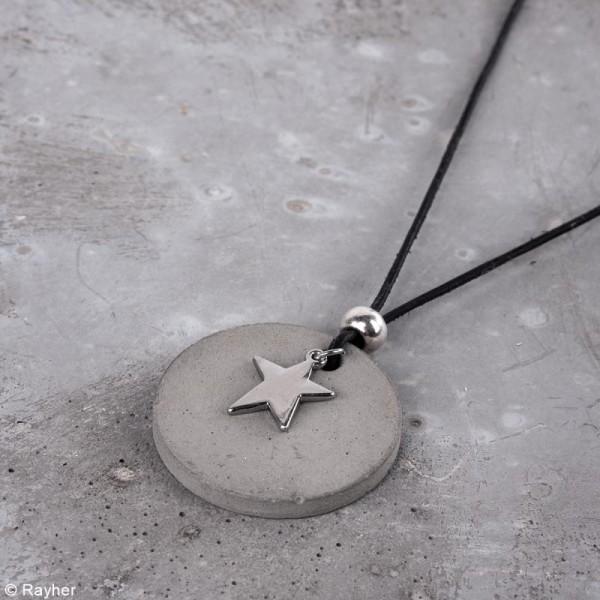 Kit collier et pendentif béton créatif - Modèle Rond - Photo n°2