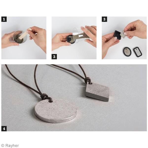 Kit collier et pendentif béton créatif - Modèle Rond - Photo n°3