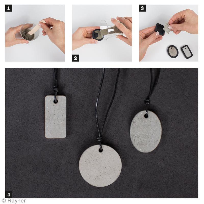 Kit Bijoux en béton créatif - Pour 3 colliers - Photo n°4