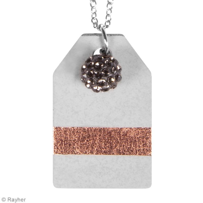 Moule à bijou pour béton - Tag - 23 x 39 mm - Photo n°2