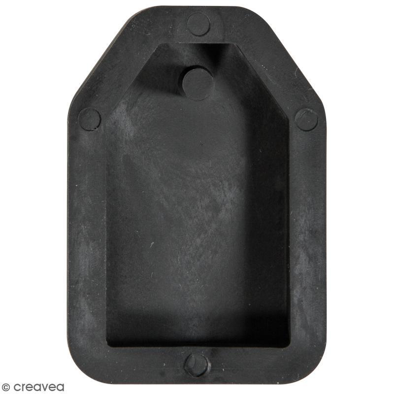 Moule à bijou pour béton - Tag - 23 x 39 mm - Photo n°1