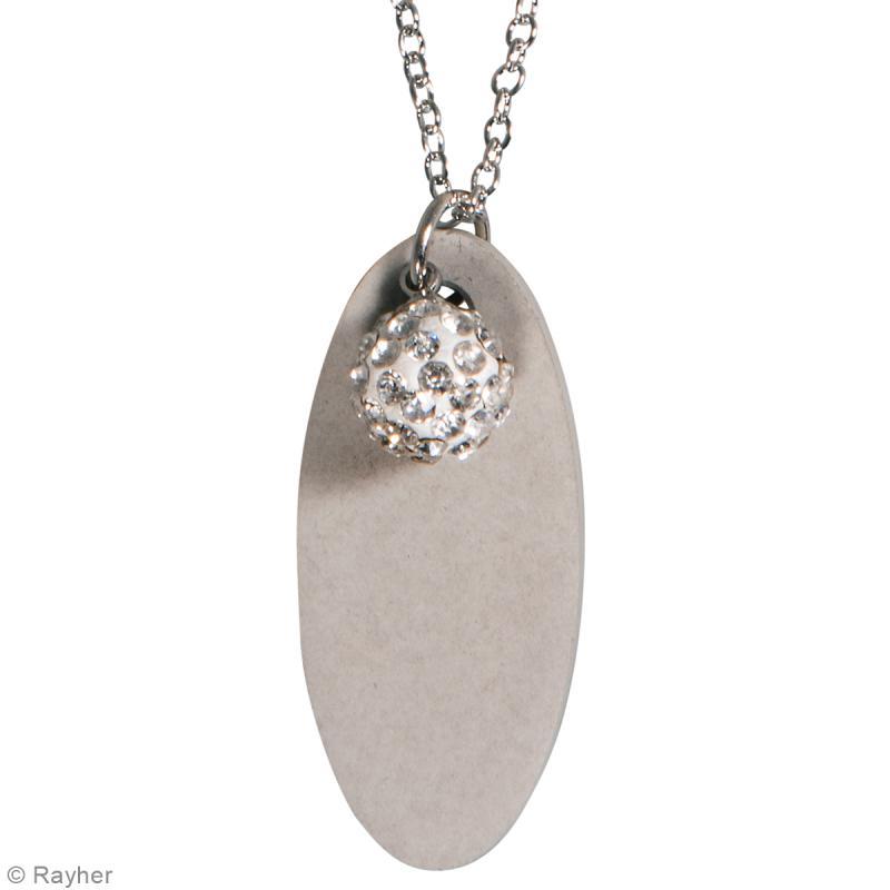 Moule à bijou pour béton - Ovale long - 17 x 39 mm - Photo n°2