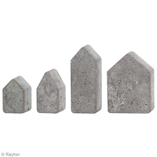 Plaque avec moules pour béton - 4 formes - Photo n°2