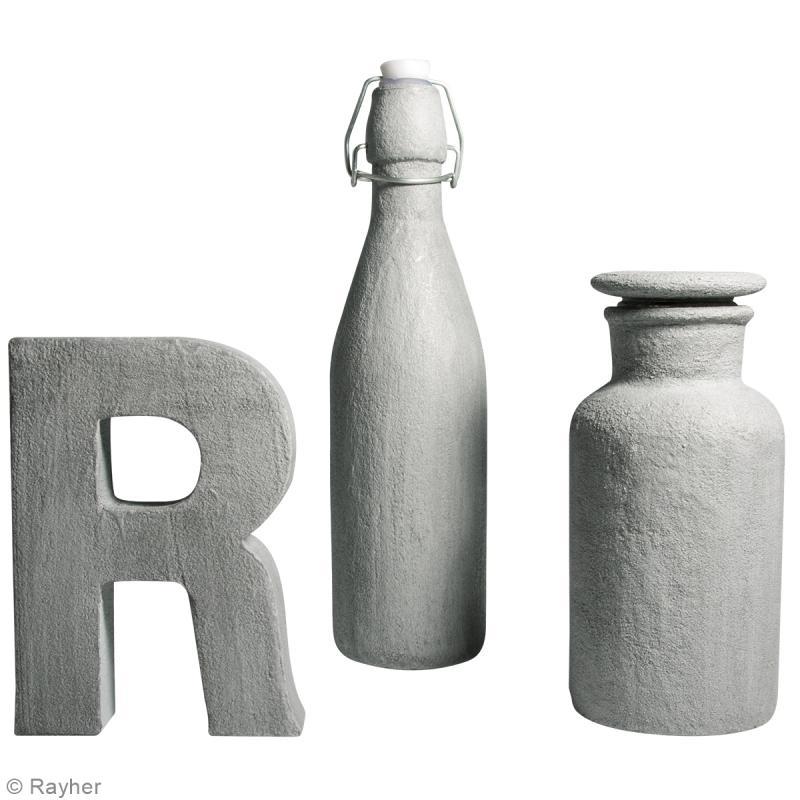 Kit enduit de béton créatif et lasure Rayher - Photo n°3
