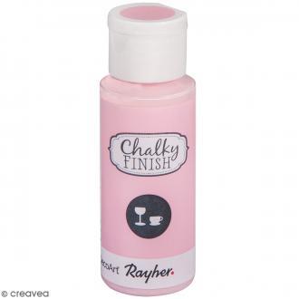 Peinture Chalky Finish Glass pour verre - Rose rosé - Couleurs vives - 59 ml