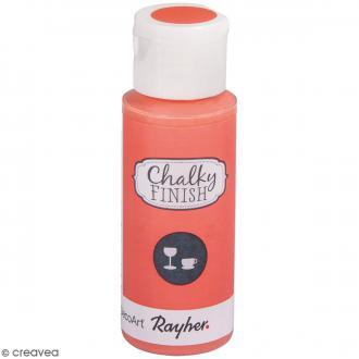 Peinture Chalky Finish Glass pour verre - Rose saumon - Couleurs vives - 59 ml