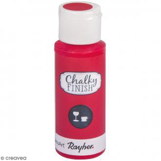 Peinture Chalky Finish Glass pour verre - Rouge classique - Couleurs vives - 59 ml