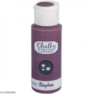 Peinture Chalky Finish Glass pour verre - Rouge mûre - Couleurs vives - 59 ml
