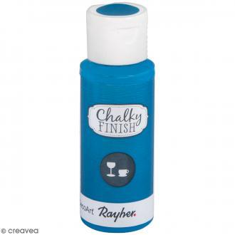 Peinture Chalky Finish Glass pour verre - Bleu azur - Couleurs vives - 59 ml
