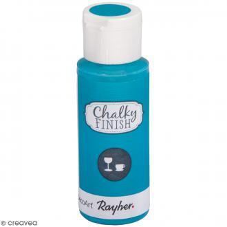 Peinture Chalky Finish Glass pour verre - Bleu lagon - Couleurs vives - 59 ml