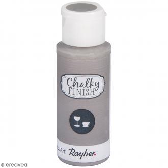 Peinture Chalky Finish Glass pour verre - Gris clair - Couleurs vives - 59 ml
