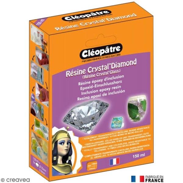 Résine Crystal Glass Cléopâtre 150 ml avec fiche conseils - Photo n°1