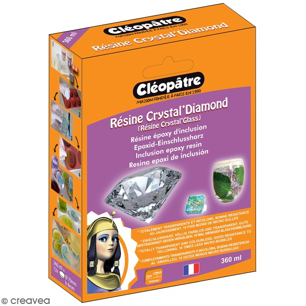 Résine Crystal Glass Cléopâtre 360 ml - Photo n°1