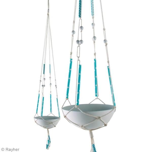 Kit Suspension béton et macramé - Bleu - Pour 4 suspensions - Photo n°6