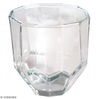 Vase en verre - Facetté - 9 x 9 x 9 cm