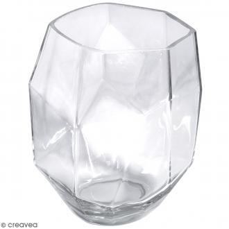 Vase en verre - Facetté - 11,5 x 11,5 x 11,5 cm