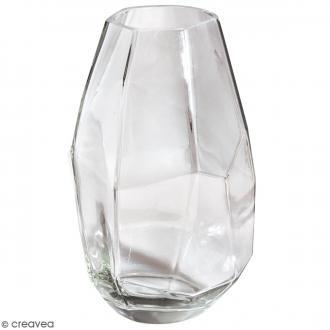 Vase en verre Facetté - 10 x 10 x 18 cm