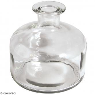 Vase en verre à base large - Hauteur 12 cm