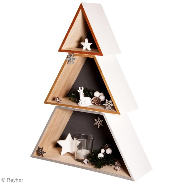 Etagère Arbre Noël en 3 parties - 34,7 x 9,9 x 45 cm - Photo n°3