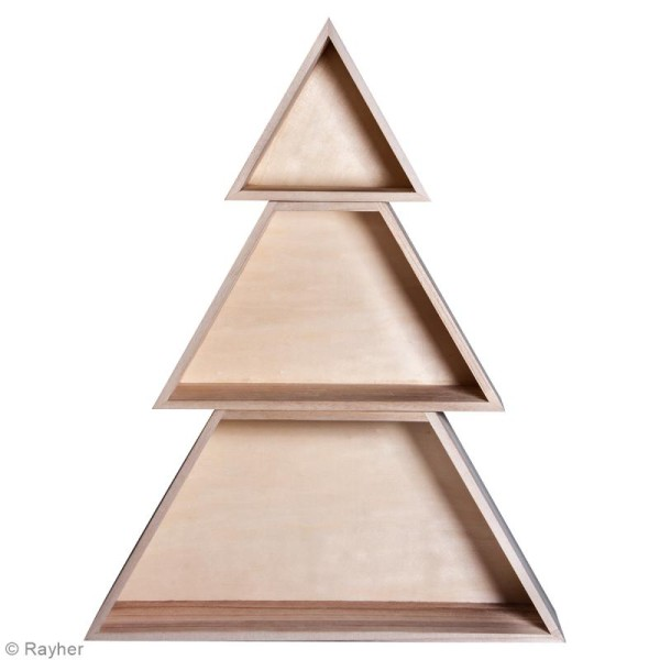 Etagère Arbre Noël en 3 parties - 34,7 x 9,9 x 45 cm - Photo n°4