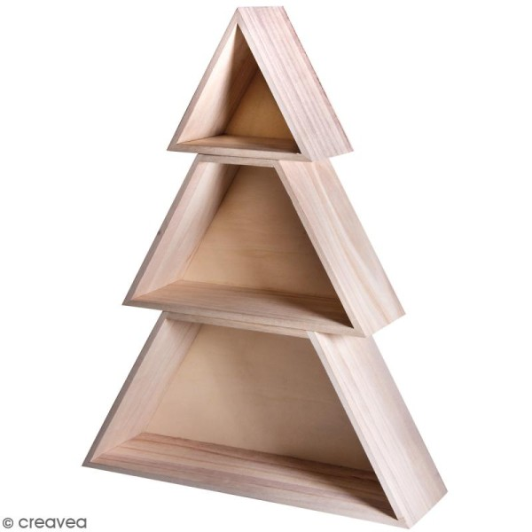 Etagère Arbre Noël en 3 parties - 34,7 x 9,9 x 45 cm - Photo n°1
