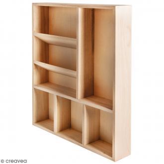 Etagère à casiers - 7 compartiments - 30 x 38 x 5,2 cm