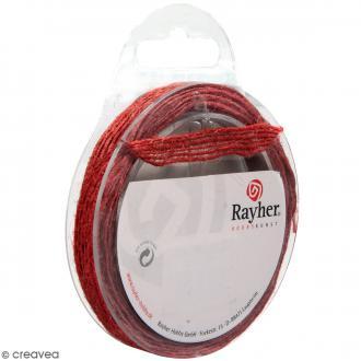 Ruban de jute - Rouge classique - 1 cm - 4 m