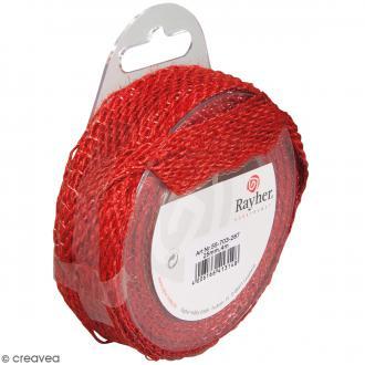 Ruban de jute - Rouge - 2,5 cm - 4 m