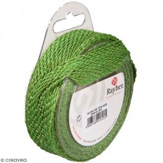 Ruban de jute - Vert foncé - 2,5 cm - 4 m
